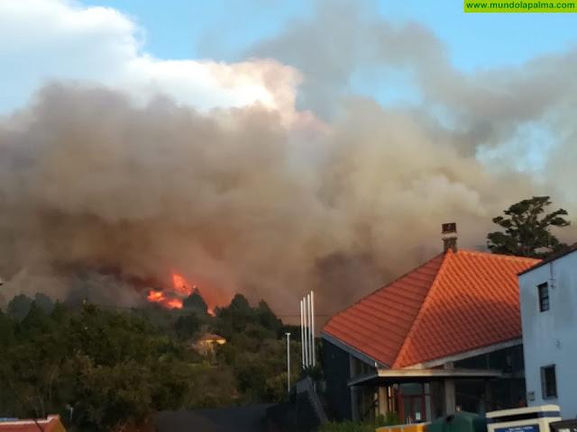Se declara un incendio en Llano Negro cerca de San Antonio del Monte en Garafía