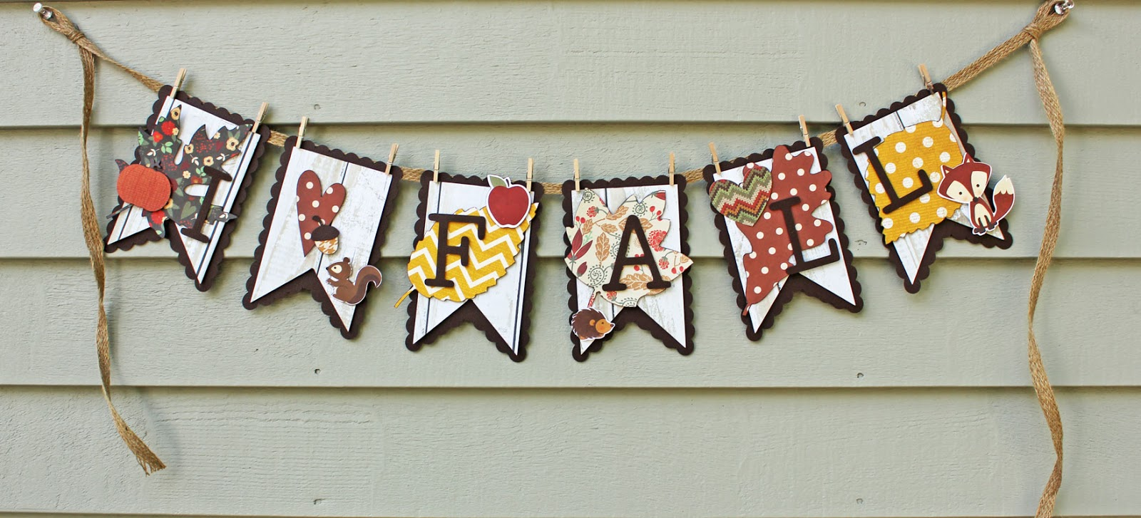 My Happy Place Right At Home Scrapbooking Fall Banner