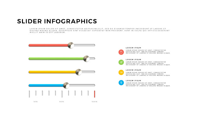 Free PowerPoint Template with Slider Infographics Slide 10