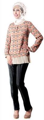 Baju batik muslim remaja putri untuk sehari-hari