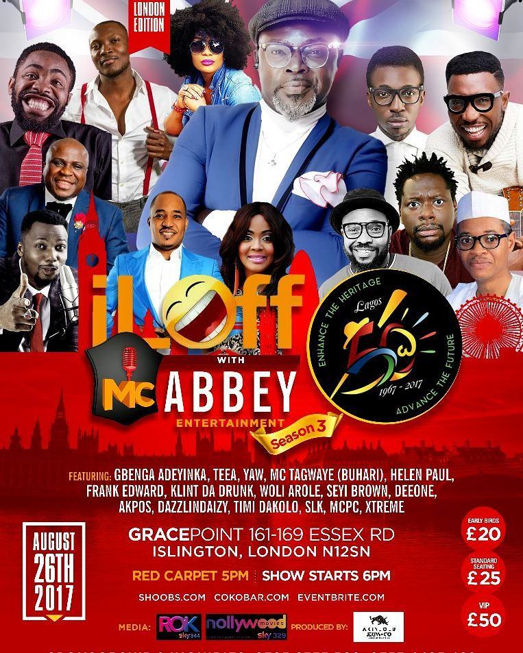 Sat/26/Aug: I Laff with MC Abbey Live in London