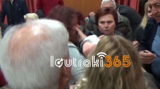 Πιάστηκαν στα χέρια στο δημοτικό συμβούλιο Λουτρακίου (βίντεο)