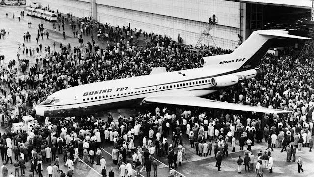 Boeing 727 N7001U İlk tanıtım - 1963