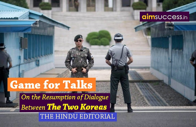 Game for talks: THE HINDU EDITORIAL