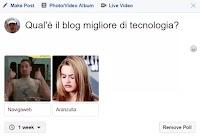Creare Sondaggi su Facebook con due scelte e immagini o GIF