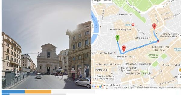 Passeggiate virtuali in Google Maps