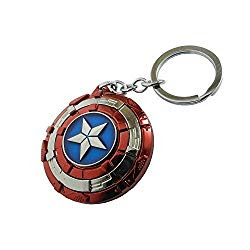 Multicolor Avengers Superhero Captain America Shield Keyrings & Keychains
