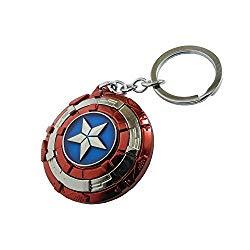 Multicolor Avengers Superhero Captain America Shield Keyrings & Keychains
