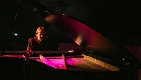 Rick Wakeman performing on hire piano from Wadebridge music