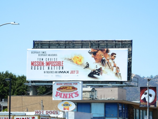 Mission Impossible 5 billboard