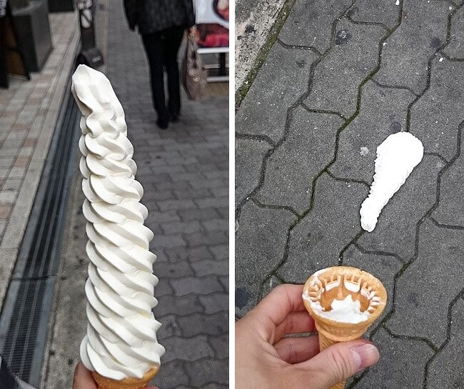 26 Times Life Went Unbelievably Wrong - That's the best ice-cream I've had in my life! Well, it was.