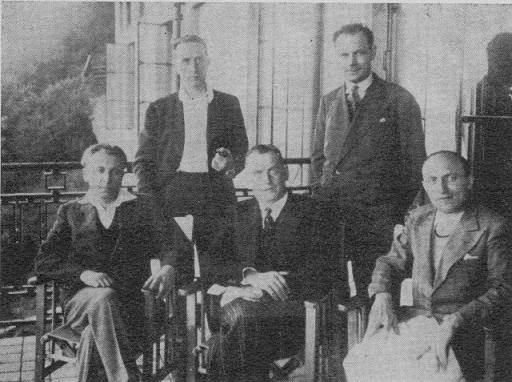El equipo francés en las Olimpiadas de Ajedrez de Folkestone 1933
