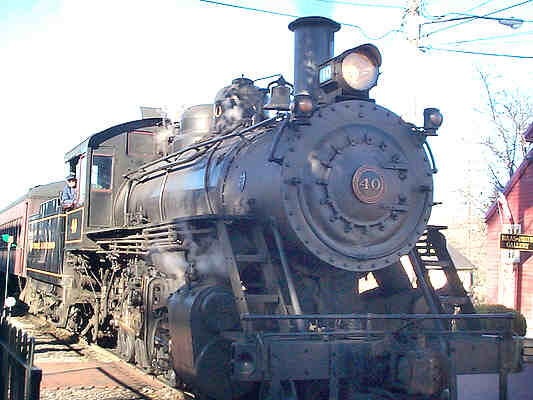 Steam Locomotive Number 40 at the New Hope Station