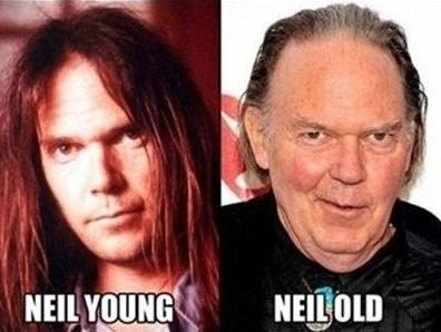 Funny Celebrity Pun Pictures - Neil Young Old