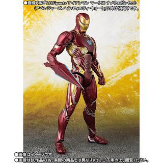 S.H.Figuarts Iron Man Mark 50 y Nano-Weapon Set de Avengers: Infinity War - Tamashii Nations