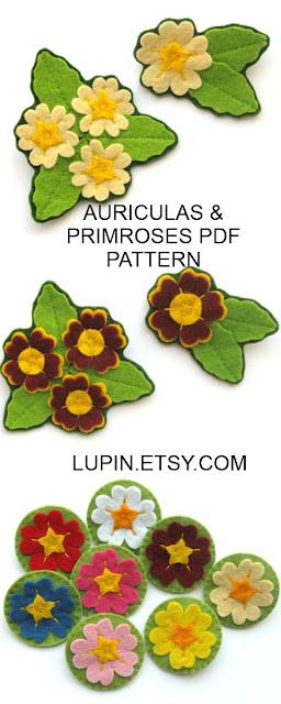 Primroses & Auriculas PDF Sewing Tutorial by Laura Lupin Howard