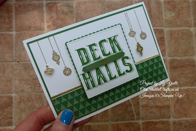Deck The Halls using Stampin Up Carols of Christmas