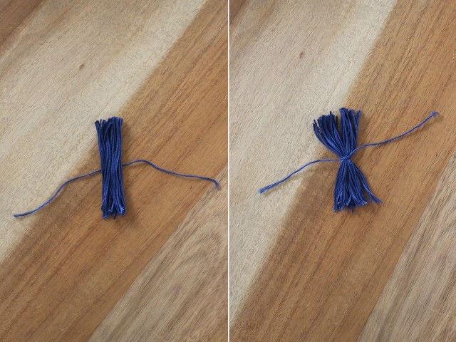 tutorial para decorar cestos con borlas