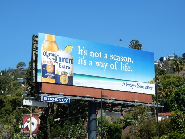 Corona Extra not a season way of life billboard