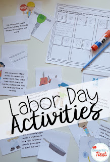 Labor Day Activities- September Activities and primary resources plus three FREEBIES- fun ELA, math, and social studies activities for students during the month of September