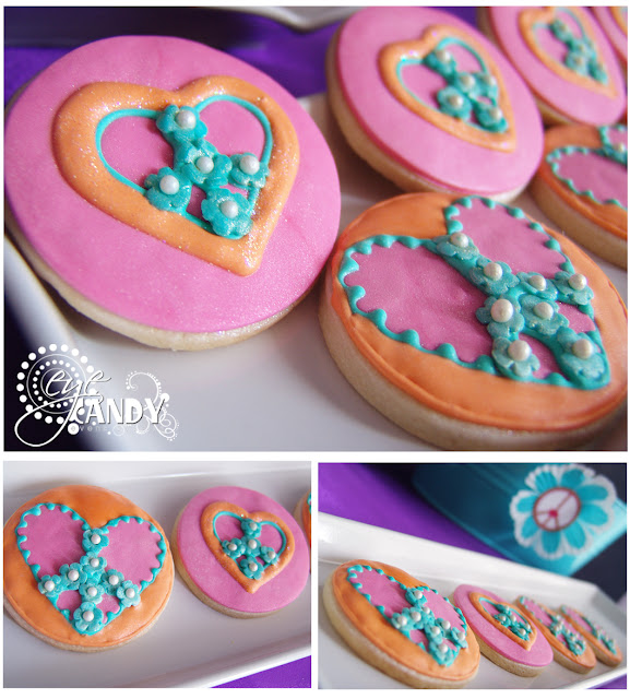 peace sign cookies, peace party dessert ideas
