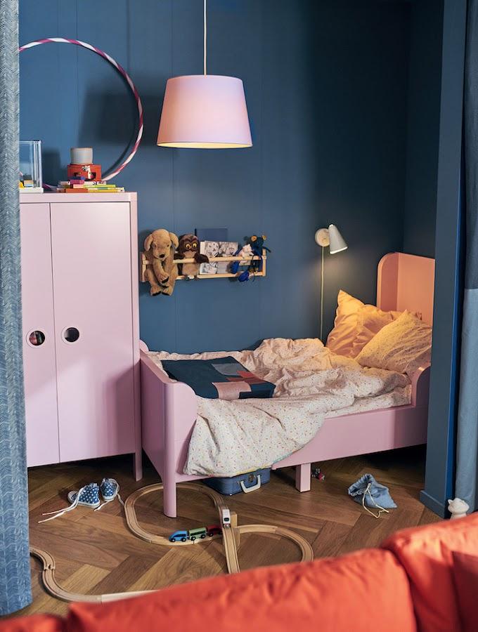Dormitorio infantil azul petróleo