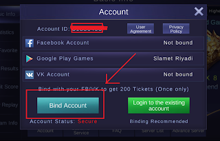 klik bind account