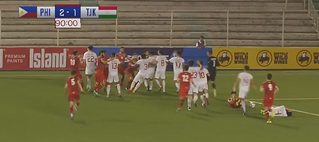 Philippine Azkals - Tajikistan SCUFFLE (VIDEO)