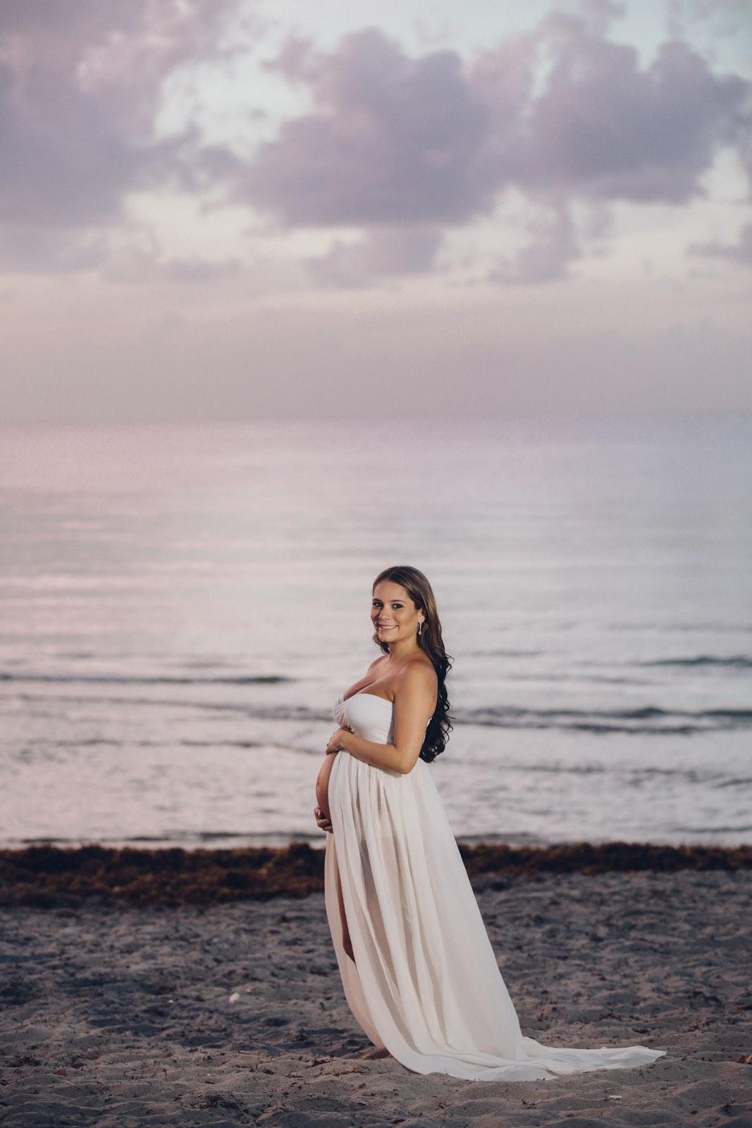 Laura Amp Co Maternity Photoshoot Beach Sunrise Look