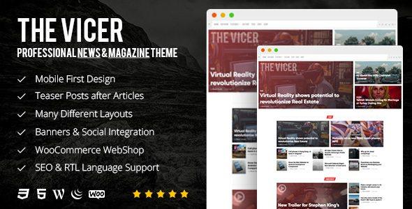 The Vicer - Professional News & Magazine Premium WordPress Theme ...