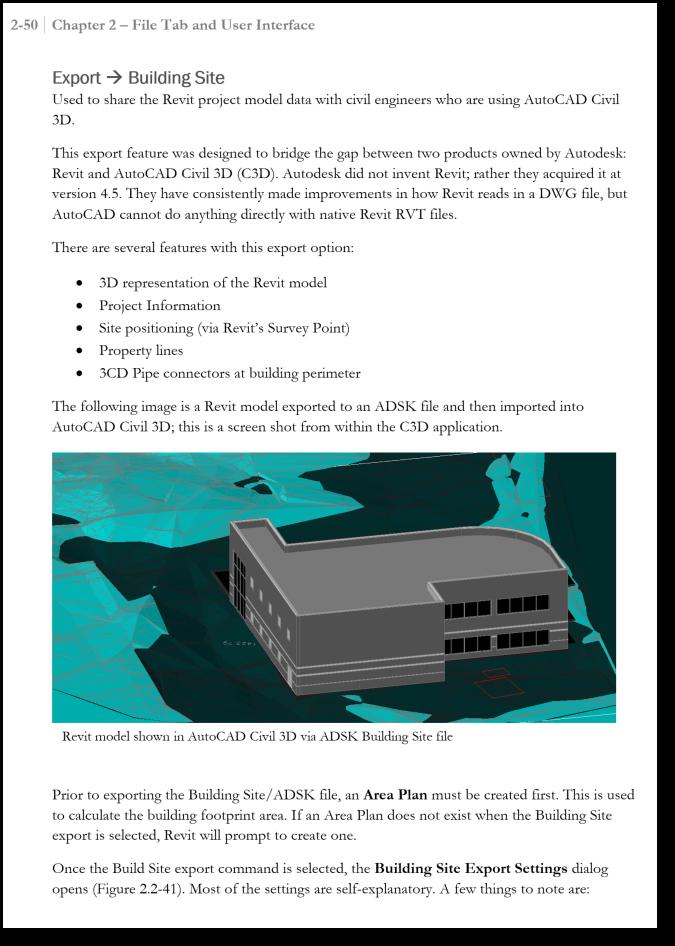 BIM Chapters: Revit 2018 Export to Building Site