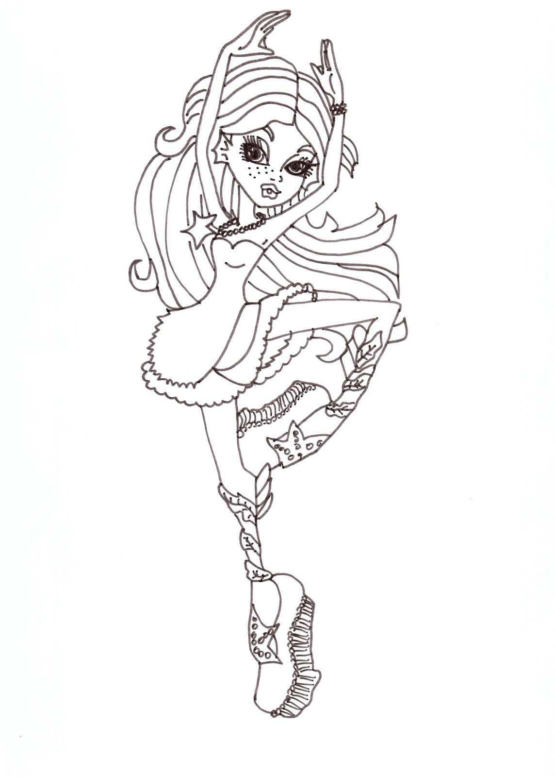 Free Printable Monster High Coloring Pages: Lagoona Dance