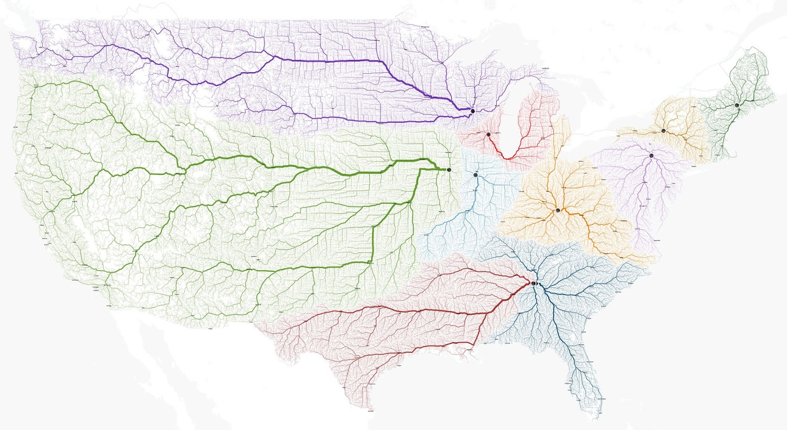 "The roads to your closest ""Rome"" in the U.S."