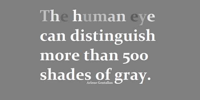 The human eye can distinguish more than 500 shades of gray.