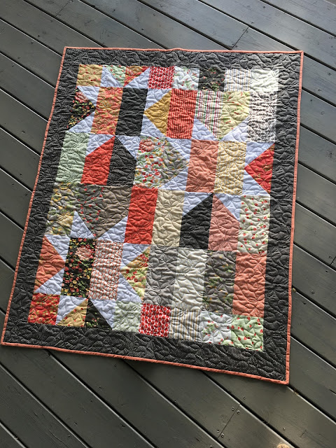 Baby quilt from Sew Sampler box from Jolly bars