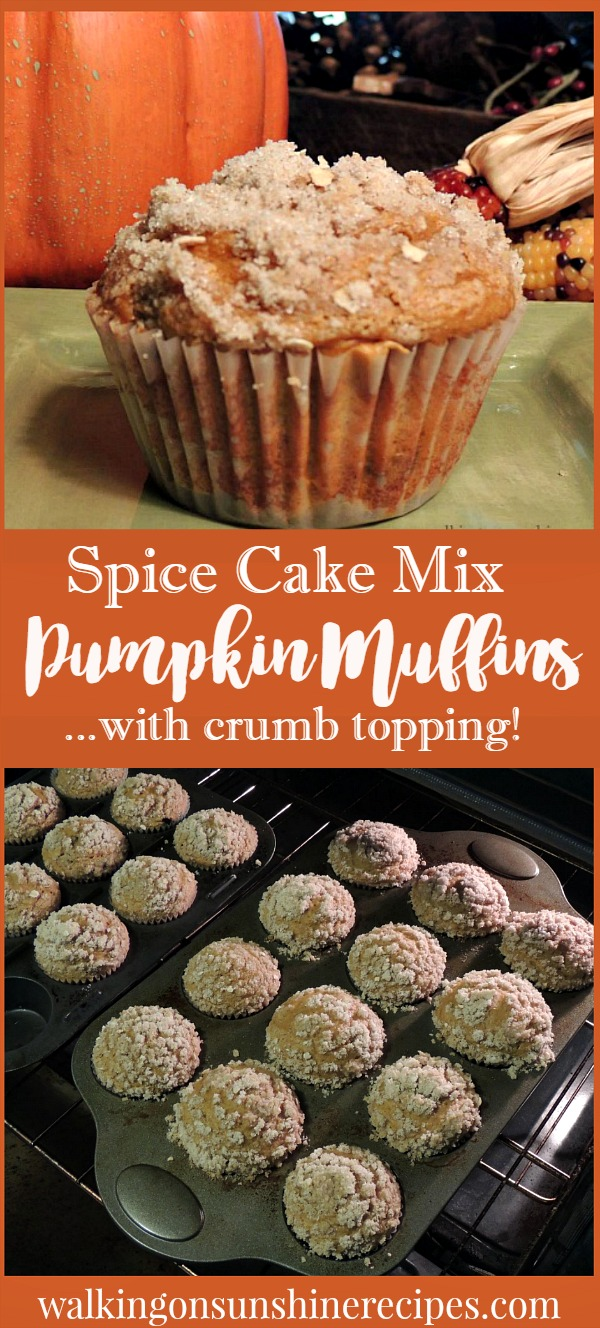 Pumpkin Muffins with Crumb Topping | Walking on Sunshine