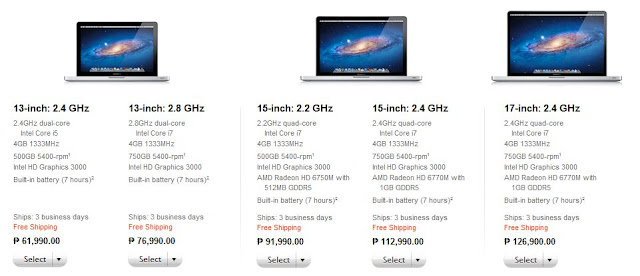Macbook Pro Specs October 2011