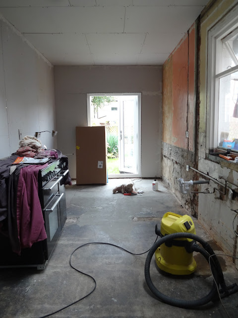 kitchen before underfloor heating