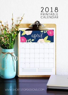 free calendars 2018