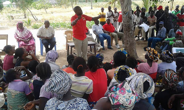Ken Nyale with Magarini Residents. PHOTO | Courtesy
