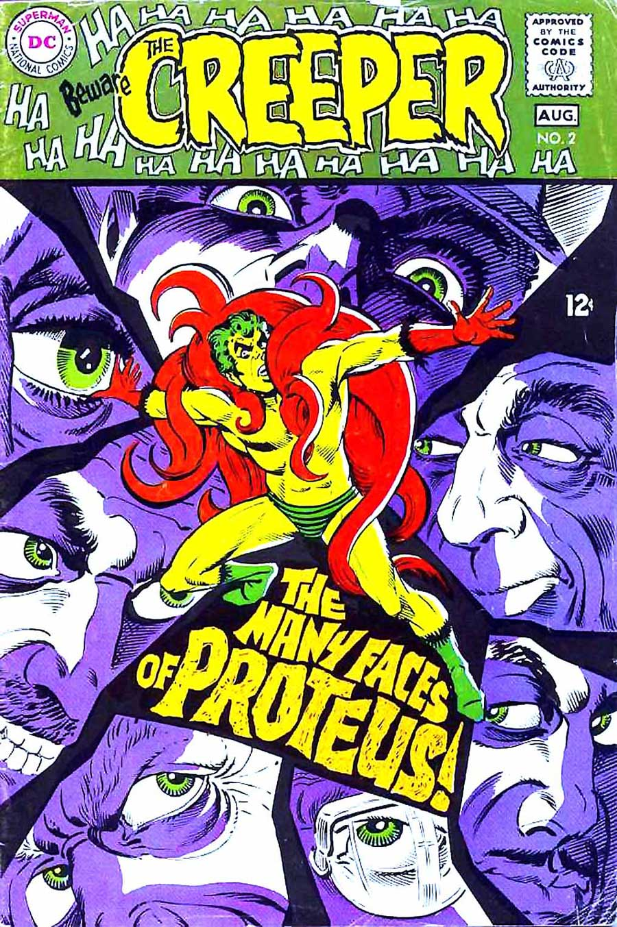 Beware the Creeper v1 #2 dc 1960s silver age comic book cover art by Steve Ditko