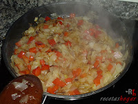 Cebolla y pimiento rehogadas
