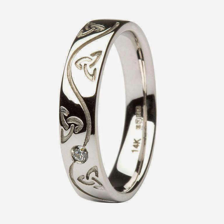 silver celtic wedding rings