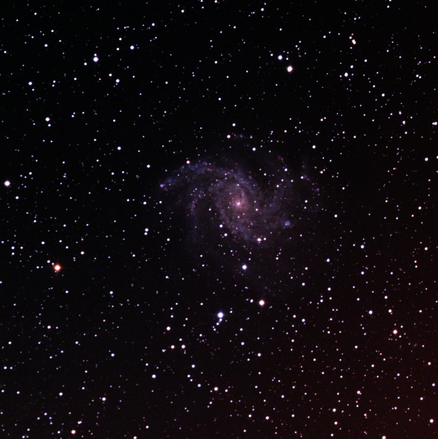 Fireworks Galaxy (in colour)