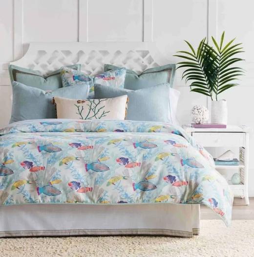 Under the Sea Fish Theme Bedding Bedroom Decor Idea