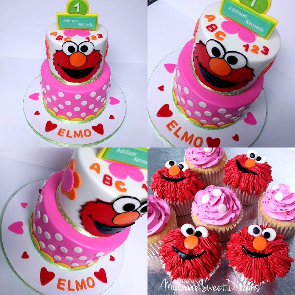 My Cake Sweet Dreams Elmo 1st Birthday Cake