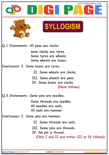 DP | SYLLOGISM | 4 - JUNE - 17 |