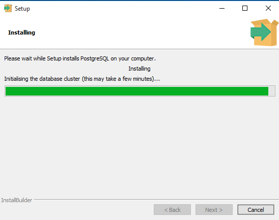 PostgreSQL Install on Window Step 7