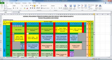 Contoh Jadwal Pelajaran SD Kurikulum 2013 Kelas 1