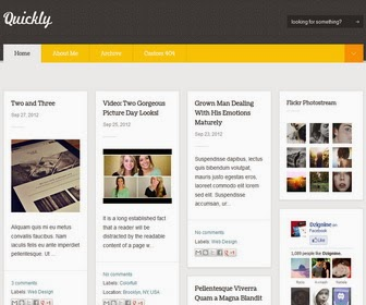 Quickly Blogger Template